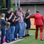 Alexander Göttlicher stellt Mohrrübenorchester zusammen